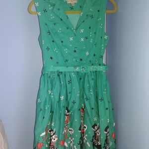 Lindy bop voodoo witch doctor print dress 12